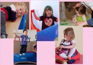 Atelier ponctuel 0-3 ans : de la Gym, de la musique, de la peinture... toujours une découverte