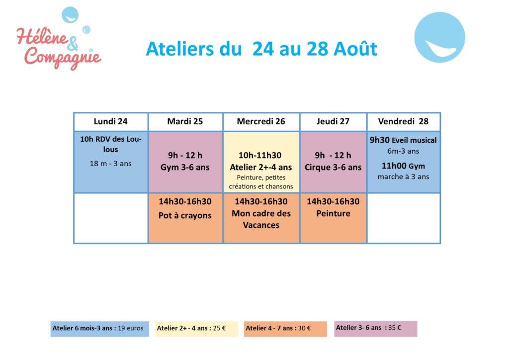 Vacances Aout 2020
